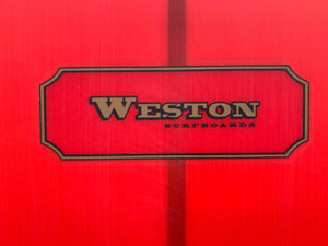 9'2 Weston Surfboards Axis in Candy Apple Red Resin tint