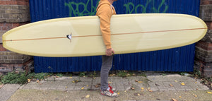 9'6 Weston Surfboards Axis in Sage Green Resin tint