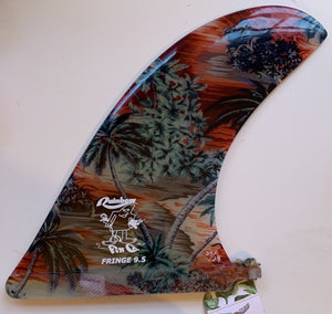 "Rainbow Fin Company Fringe 9.5"" - Traveler Series ""Fire Sunset"" Limited edition"
