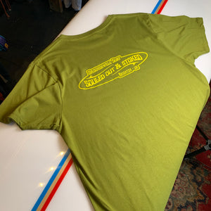 Groundswell Surf Store 'Souled Out & Stoked' Dyed Olive T-Shirt
