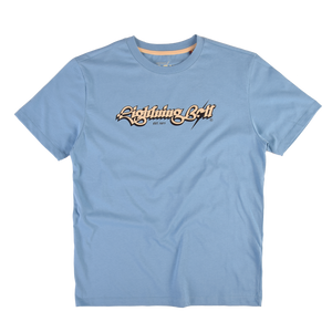 Lightning Bolt Script T-shirt Pacific Blue