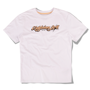 Lightning Bolt Script T-shirt Foam White