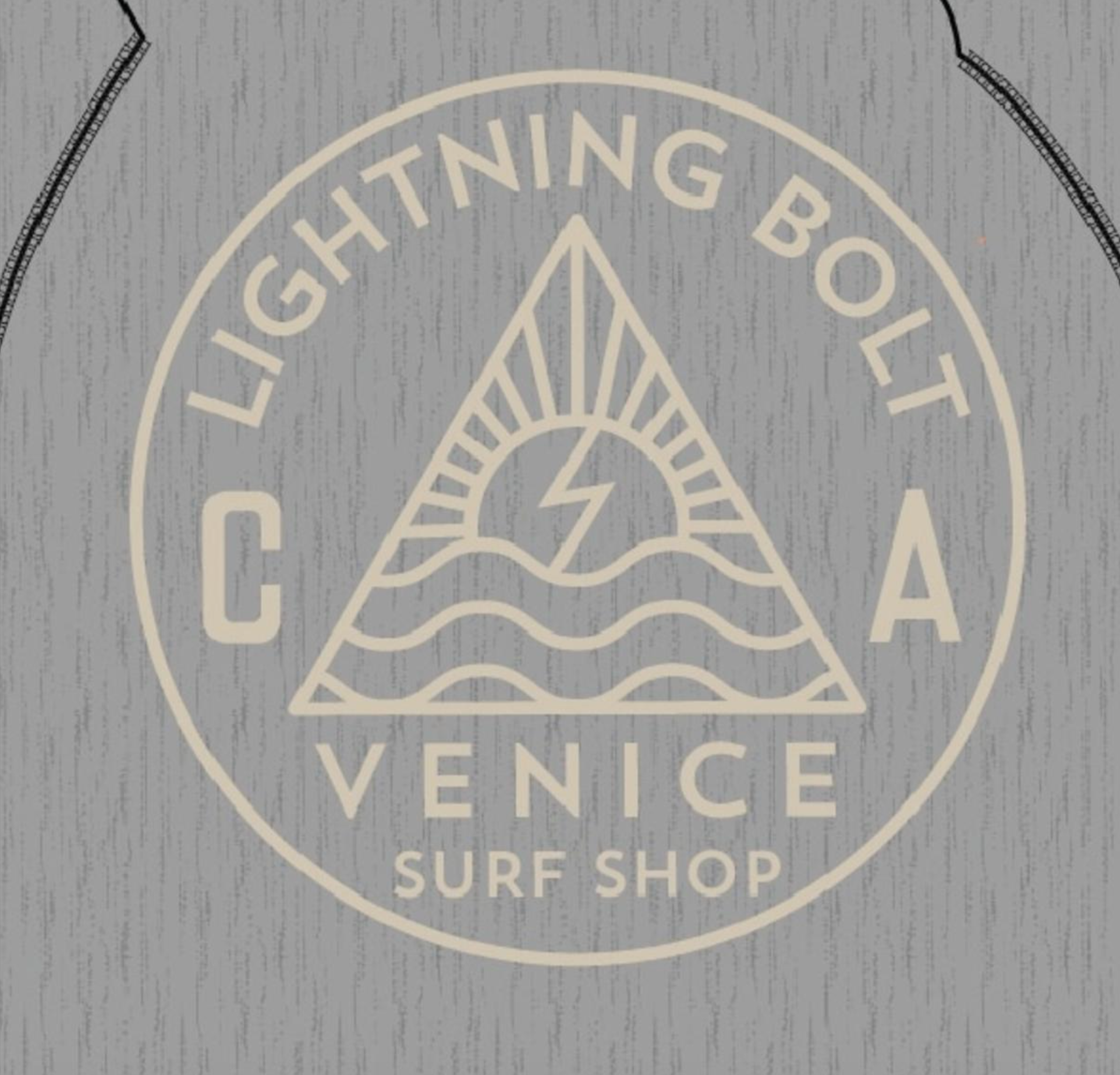 Lightning Bolt Venice Ca Fleece Hoodie - Heather