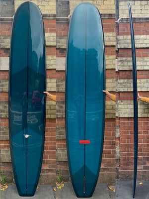 9'6 Weston Surfboards Noserider in Dark Teal