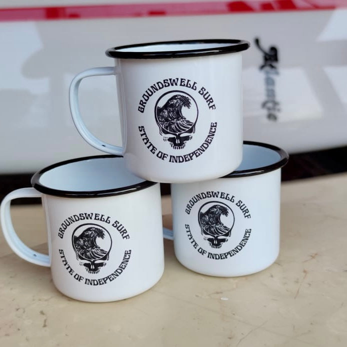 Groundswell Surf Store 'State Of Independence' Enamel Mug