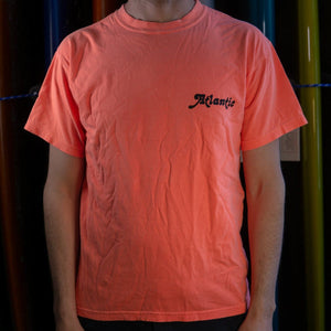 Atlantic Washed Tee - s / neon red orange - apparel
