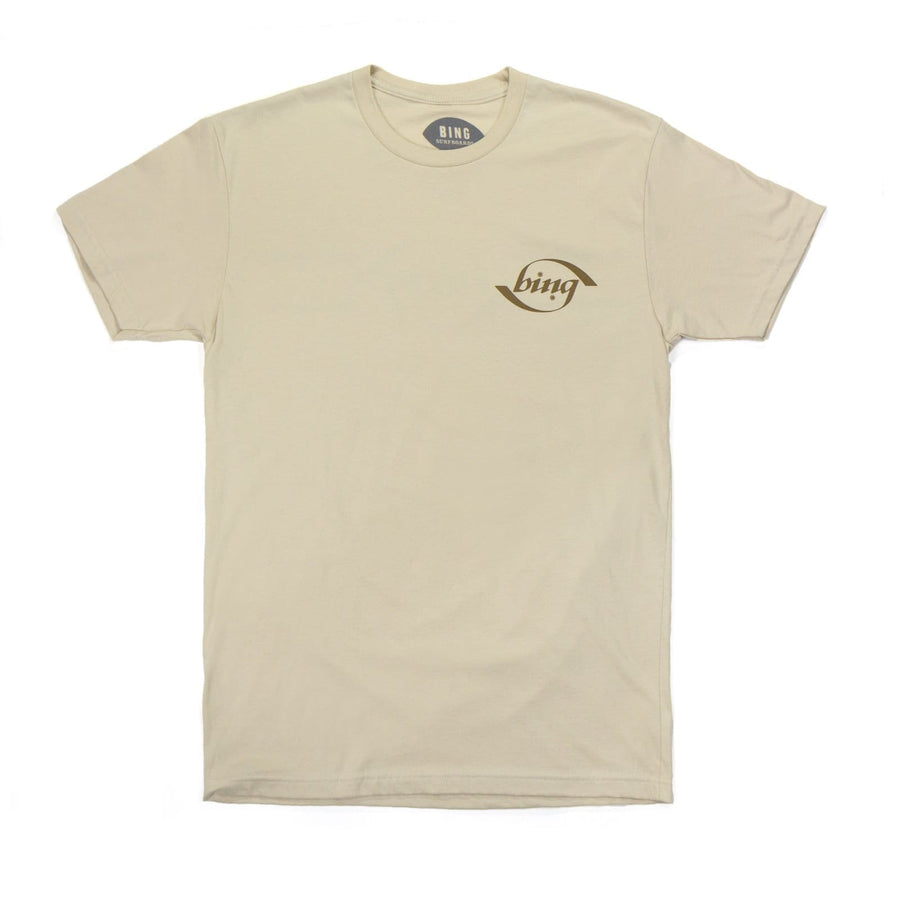 Bing 70s Stripe Premium S/S T-Shirt Cream - s - clothing