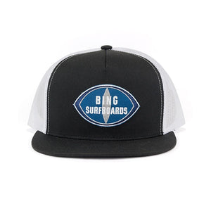 Bing Original Patch Premium Trucker Cap Black/White - clothing