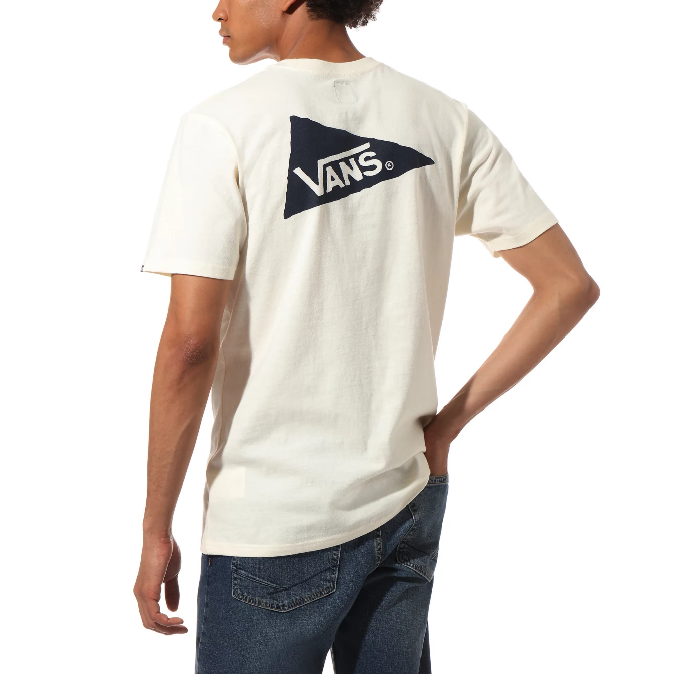 VANS x Pilgrim Surf + Supply Pennant T-Shirt Antique White