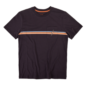 Lightning Bolt Stripe Pocket T-shirt (Washed Charcoal)