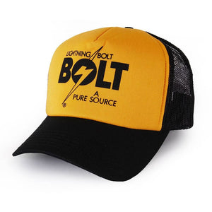 Lightning Bolt Pure Source Trucker Cap Gold/Black - clothing