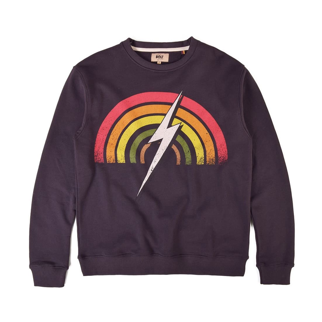Lightning Bolt Rainbow Crew - clothing