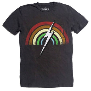 Lightning Bolt Rainbow Pocket T-shirt - clothing