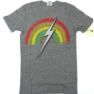 Lightning Bolt Rainbow T-shirt (Phantom grey) - clothing