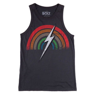 Lightning Bolt Rainbow Tank Shirt - clothing