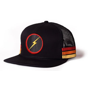 Lightning Bolt Sunset Stripe Cap - clothing