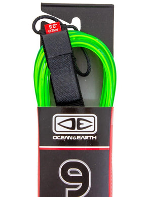 Ocean and Earth Longboard Regular Leash 9'0 - Lime