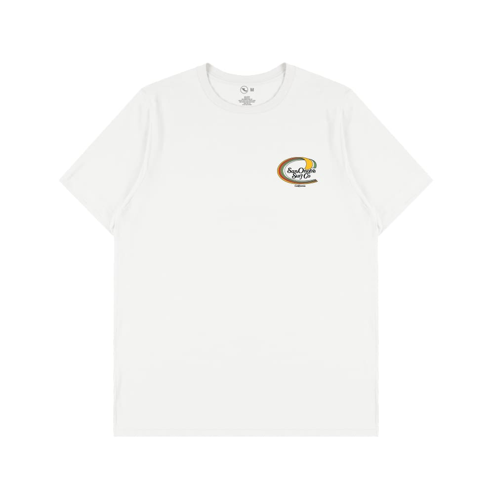 San Onofre Surf Clothing Co Trimline SS Tee White - clothing