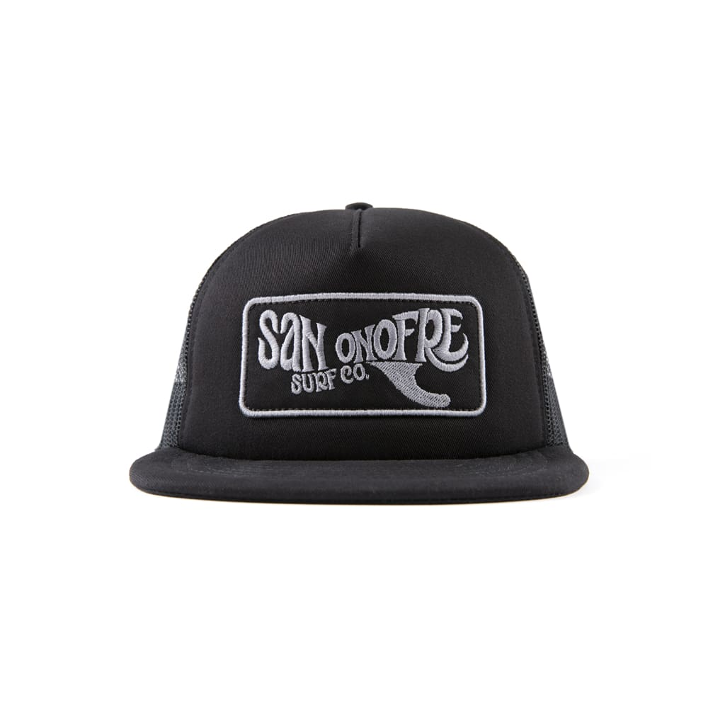 San Onofre Surf Co Traditional Patch Hat Black - clothing