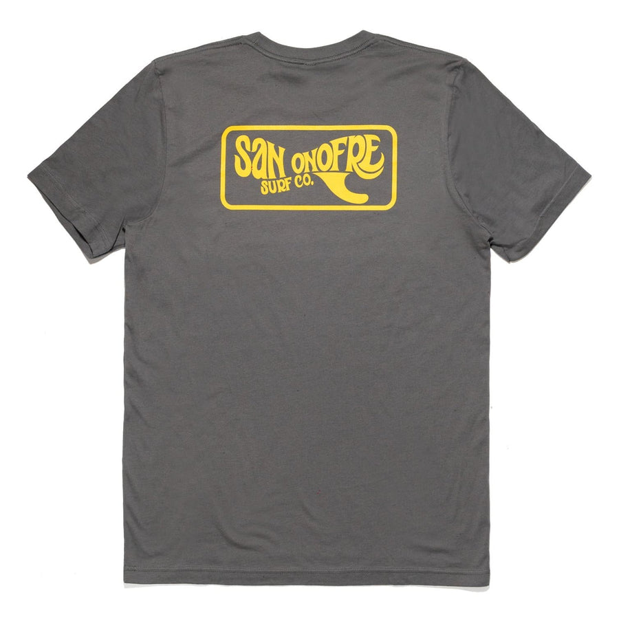 San Onofre Surf Co Traditional Patch T shirt Asphalt - clothing