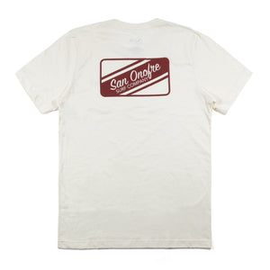 San Onofre Surf Clothing Co. Striper Patch T - Natural