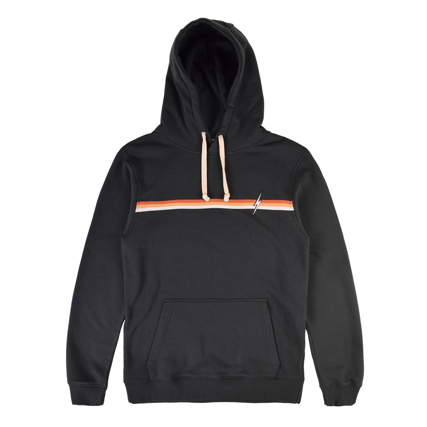 Lightning Bolt Stripe Fleece Hoodie - Darkest Spruce