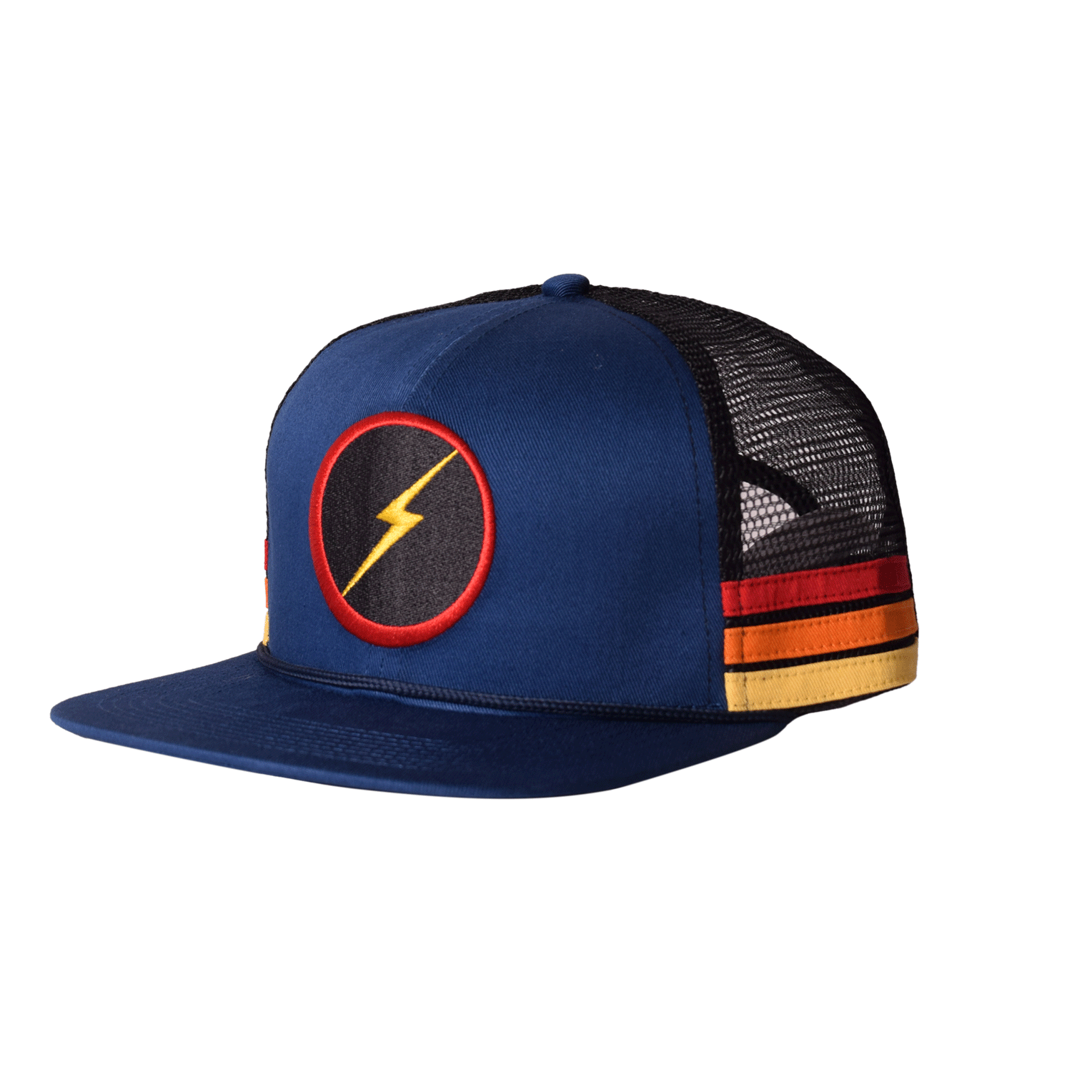 Lightning Bolt Sunset Stripe Cap - Blue