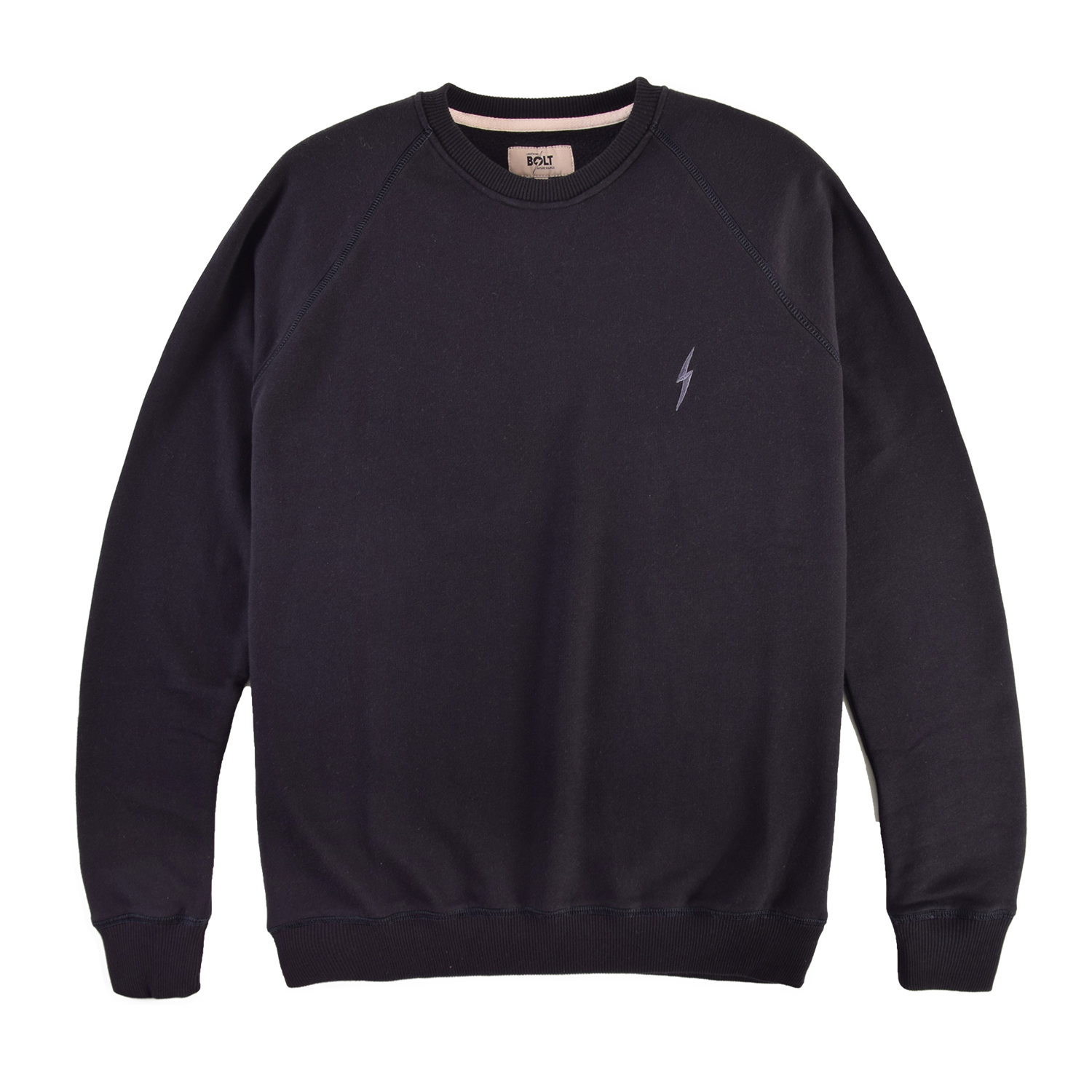 Lightning Bolt Essential Fleece Crew - Moonless Night