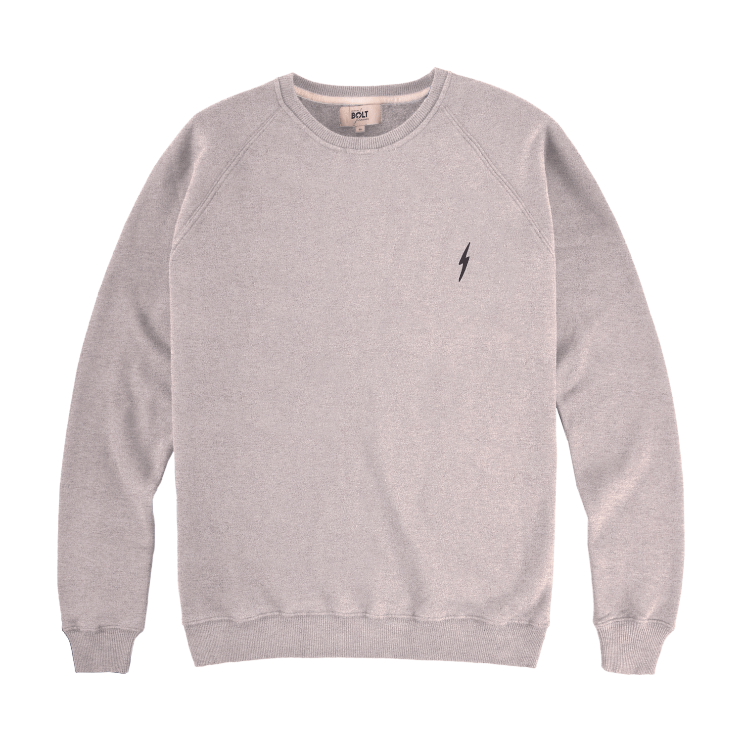 Lightning Bolt Essential Fleece Crew - Heather