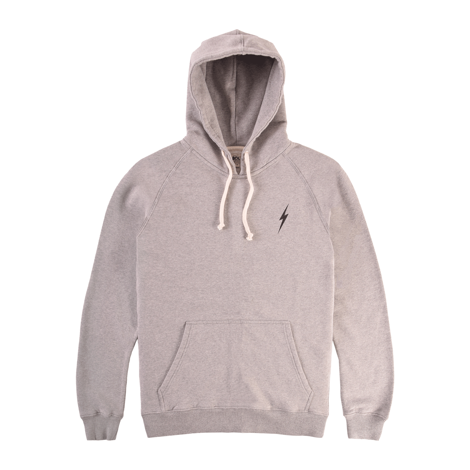 Lightning Bolt Essential Heather Fleece Hoodie - Heather Grey