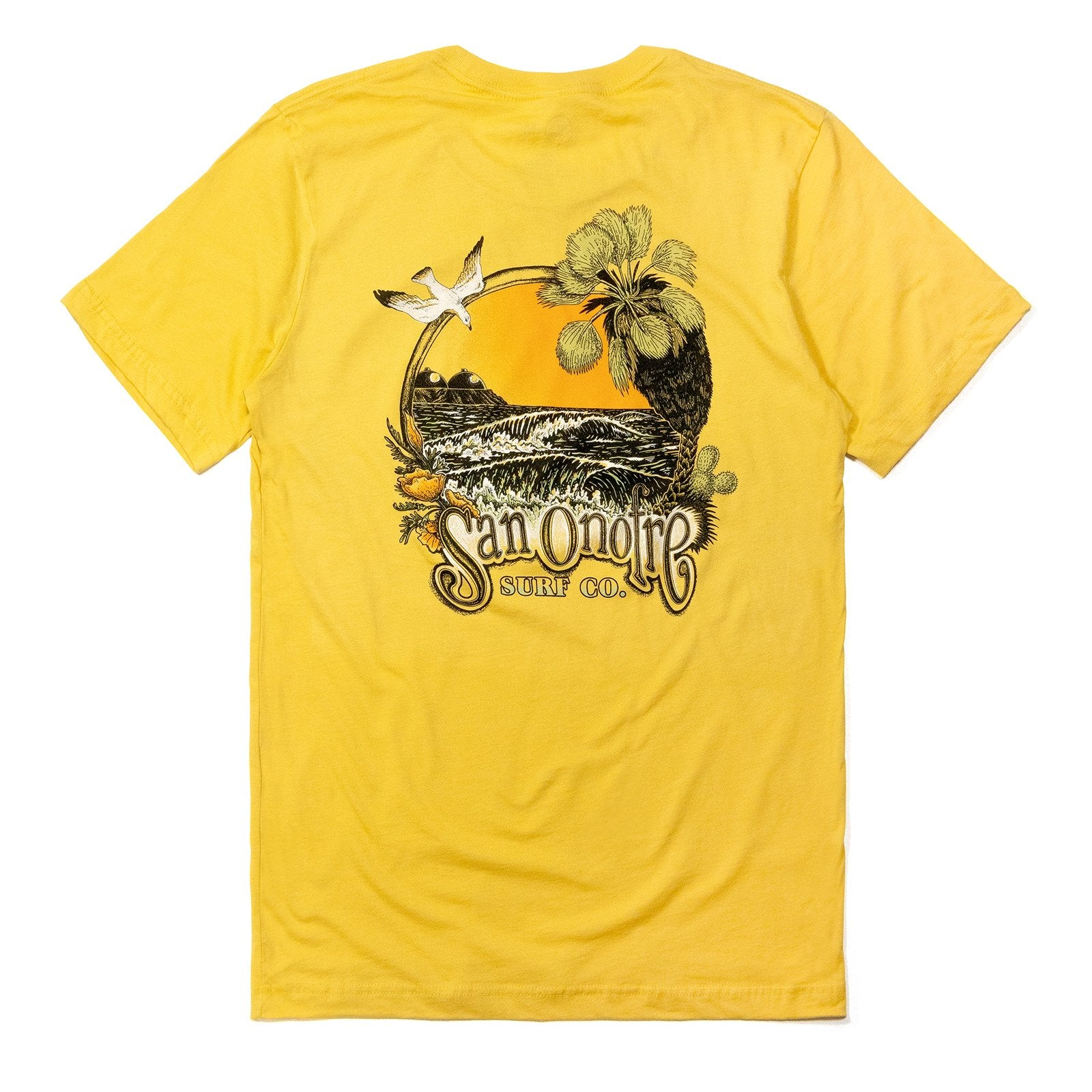 San Onofre Surf Clothing Co. Daydream T - Maize Yellow