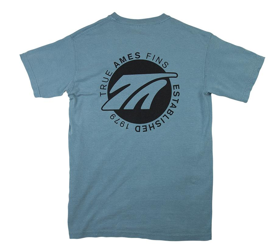 True Ames Logo T Shirt Glacier