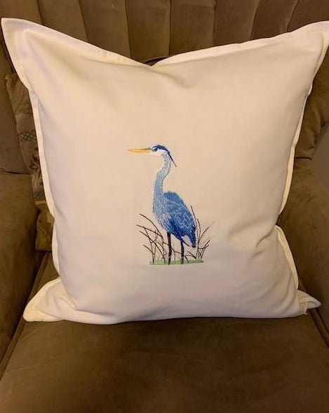 Custom order: Heron pillow cover