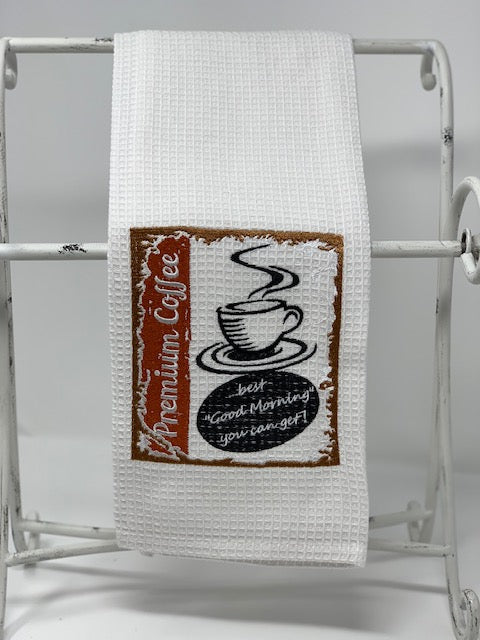 Tea towel - vintage style coffee