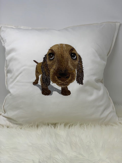 Embroidered pillow - Dachshund