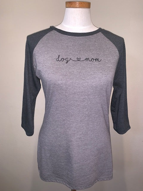 Dog Mom Raglan Shirt