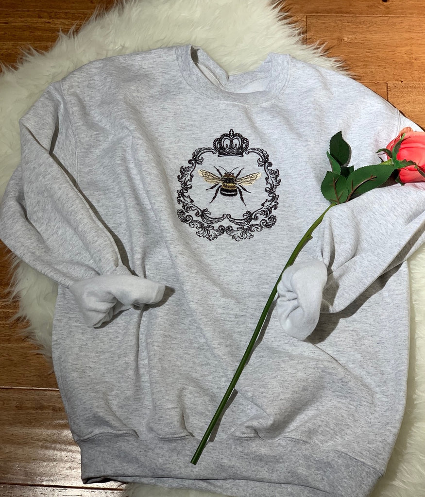 Queen Bee crew neck sweatshirt - gray
