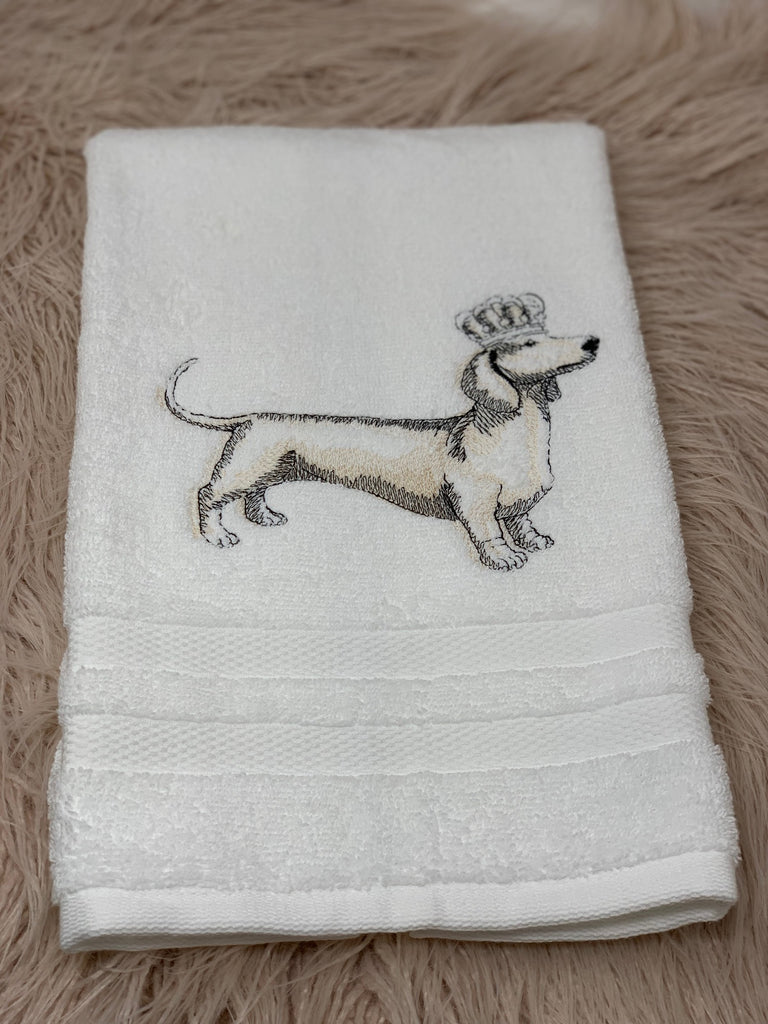 Hand towel - Dachshund Royalty