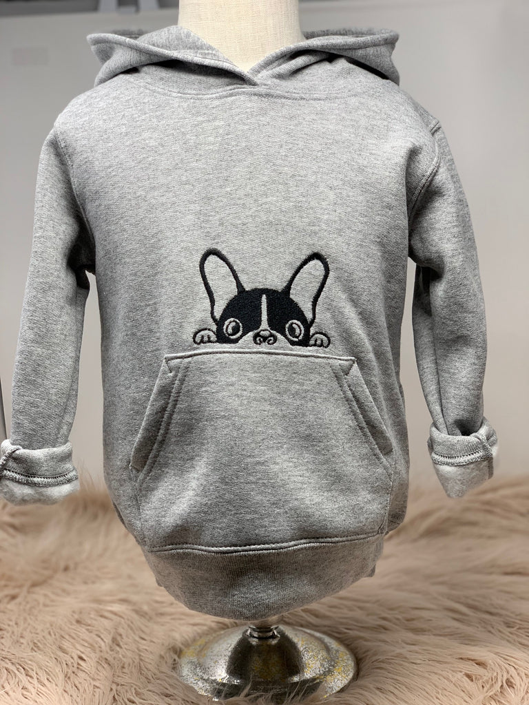 Toddler Dog hoodie sweatshirt -- frenchie