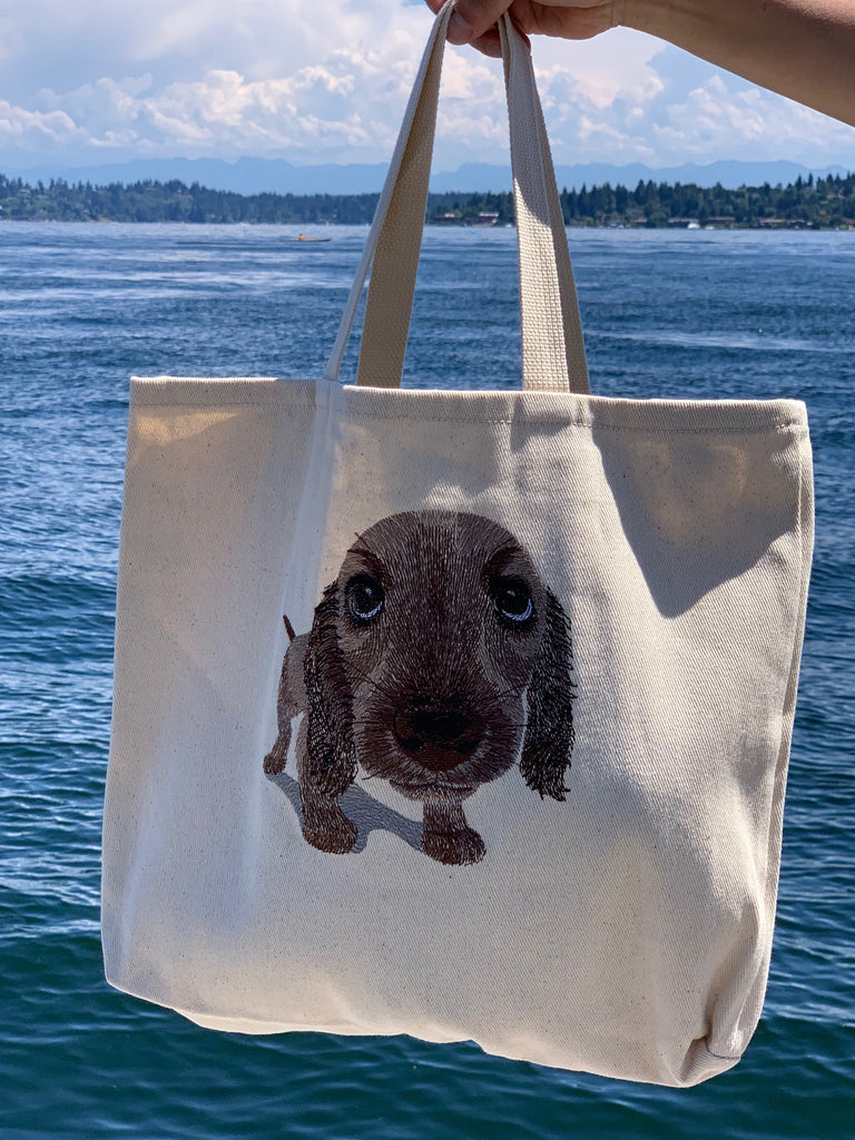Canvas tote bag - Dachshund