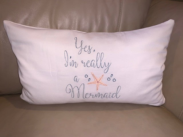 Custom Order:  Mermaid Pillow
