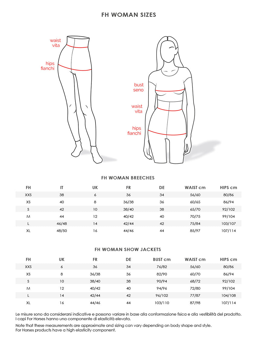 FH WOMAN SIZES