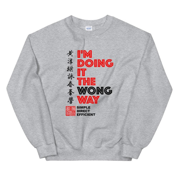 The Wong Way - Gildan Crewneck Sweatshirt
