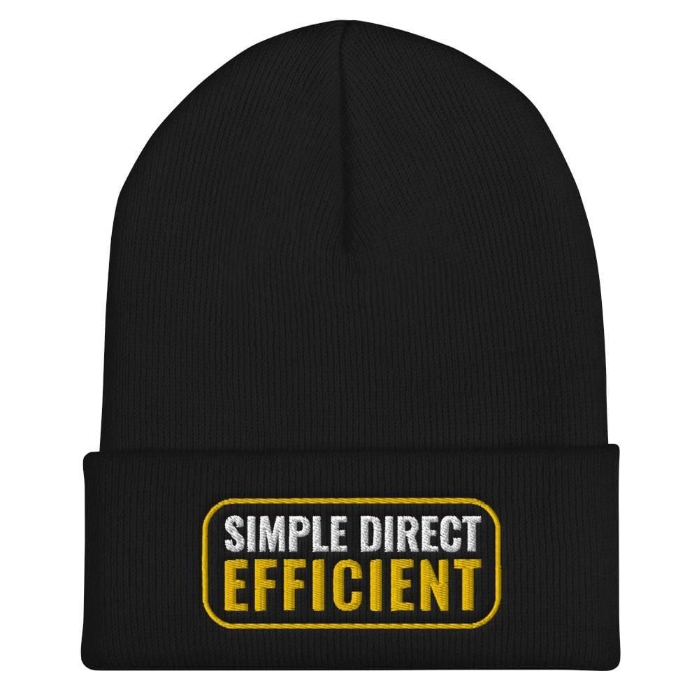 Wing Chun Illustrated Apparel - Simple Direct Efficient - Embroidered Yupoong Beanie