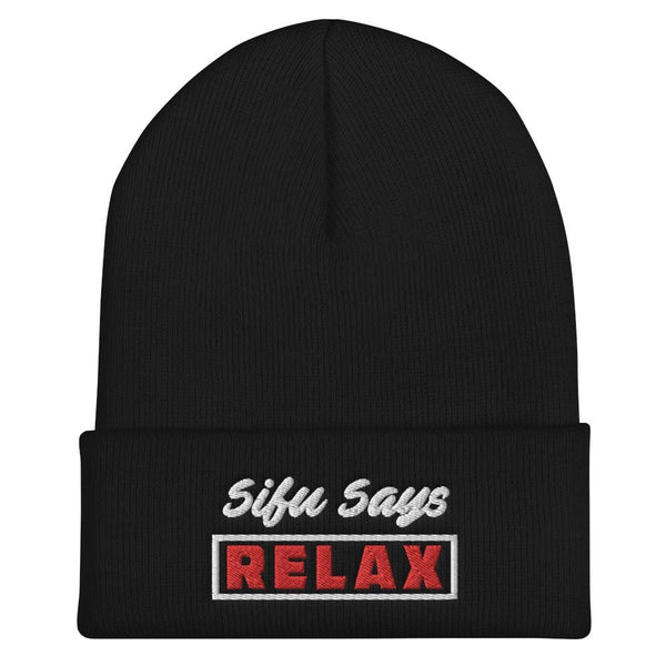 Wing Chun Illustrated Apparel Sifu Says Relax - Embroidered Yupoong Cuffed Beanie