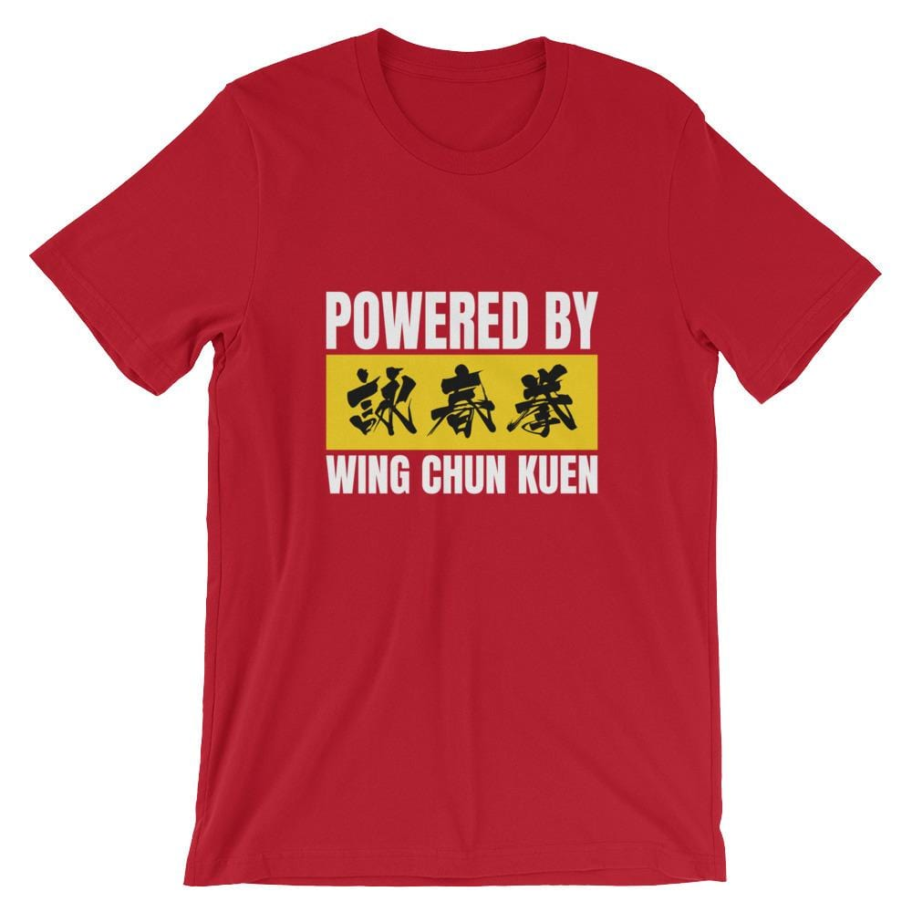 Powered By Wing Chun Kuen Premium Bella+Canvas Airlume Cotton T-Shirt