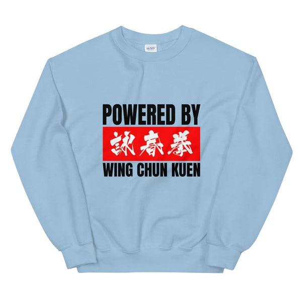 Powered By Wing Chun Kuen - Gildan Crewneck Sweatshirt