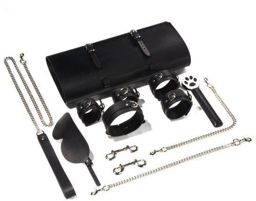 Full Leather 12 IN 1 SM Bondage Kit-Xsecret- Strive to protect your secret
