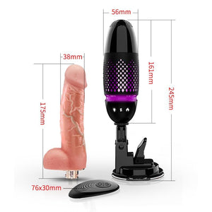 BLACK Tornado AUTOMATIC MACHINE GUN VIBRATOR DILDO 2019 Version-Xsecret- Strive to protect your secret