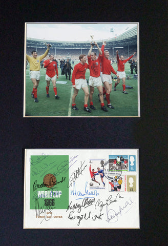 WORLD CUP 1966 Celebrating 50 Years Signed Autograph Mounted Photo PRINT 609